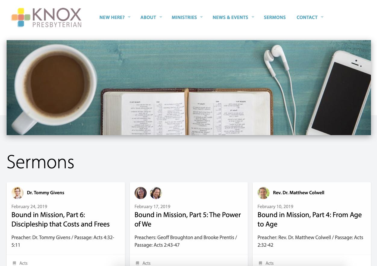 Knox Sermons